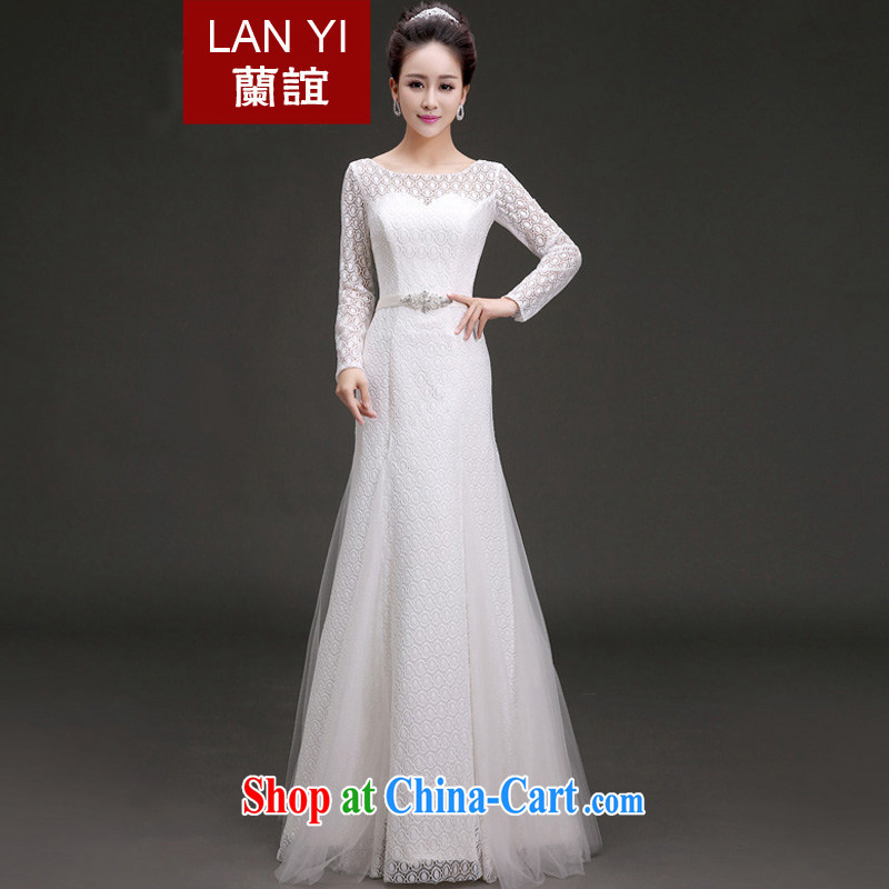 (Quakers, spring 2015 new wedding Euro-style long-sleeved lace bridal wedding dresses the Field shoulder-neck with wedding White made a supplement will be doing fee