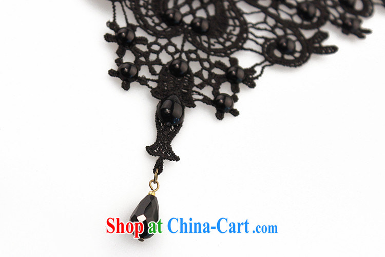 Han Park (cchappiness) dress and jewelry original luxury exaggerated his collarbone black lace necklace and Europe female jewelry pictures, price, brand platters! Elections are good character, the national distribution, so why buy now enjoy more preferential! Health