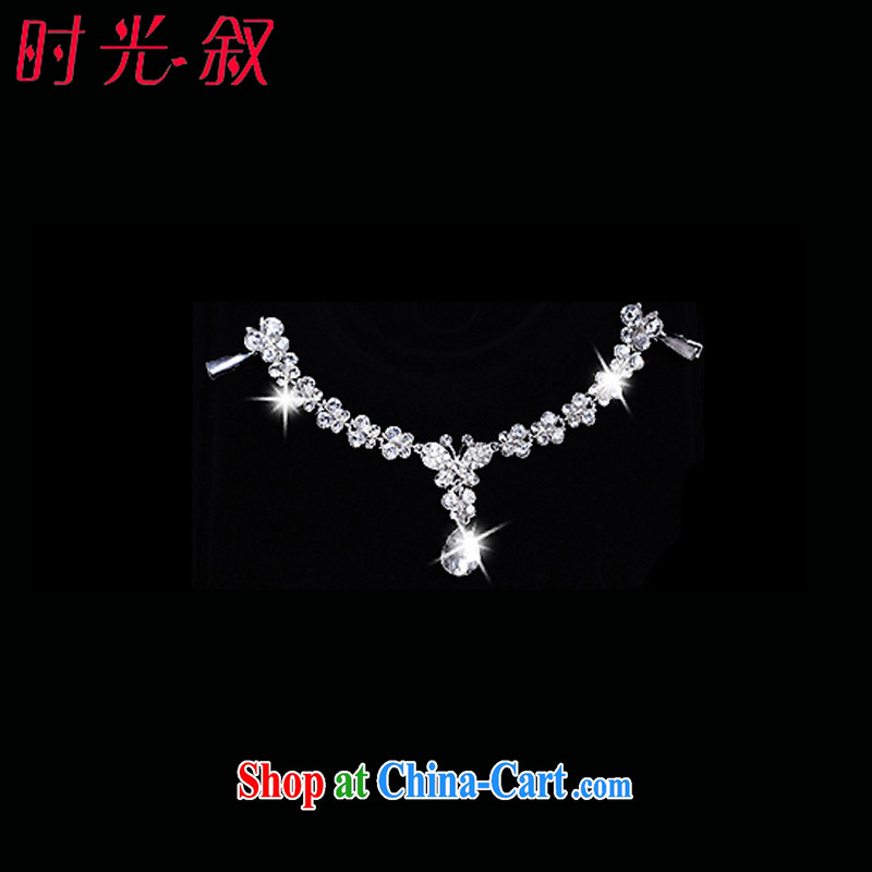 Time his bride's accessories 3-piece kit and trim-trim Crown necklace earrings jewelry hair accessories wedding wedding banquet party activities with jewelry-jewelry