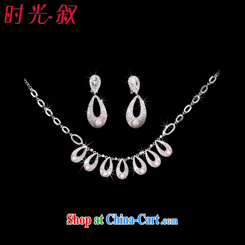 Time his bride's jewelry and ornaments of jewelry continental Crown necklace earrings 3-piece kit jewelry hair accessories wedding wedding wedding banquet accessories jewelry necklaces earrings