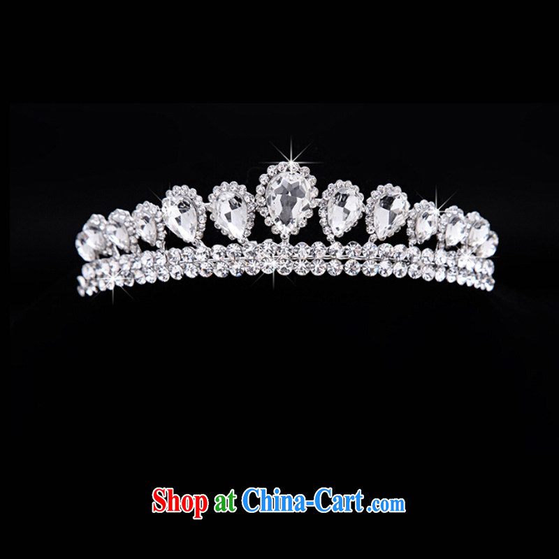 Time his bride's head-dress-trim the screws drill Crown necklace earrings 3-piece kit Korean jewelry hair accessories wedding wedding accessories jewelry gift set 3 piece set, the time, and that on-line shopping