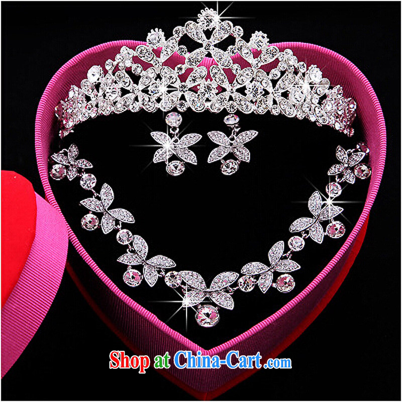 Time his wedding accessories and jewelry gift sets wedding dresses sweet Crown necklace earrings 3-piece kit and jewelry jewelry hair accessories wedding accessories water drill 3 piece set, the time, and, on-line shopping