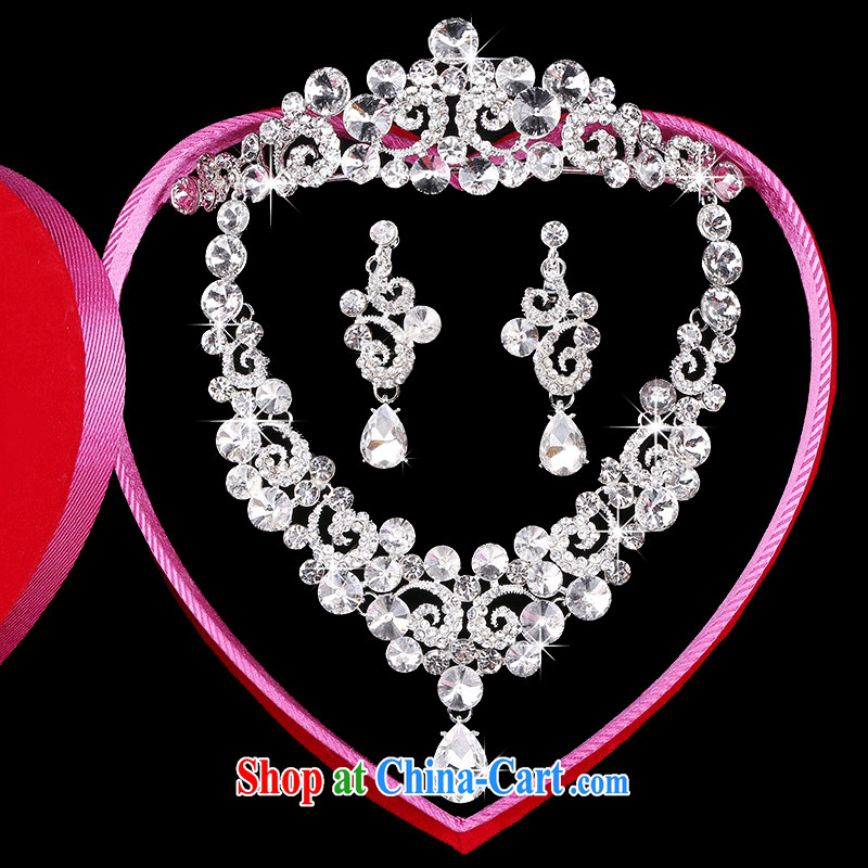 Time Syrian brides and ornaments of jewelry Crown necklace earrings 3-piece kit great drill jewelry hair accessories wedding wedding accessories jewelry gift set 3 piece set, the time, and that on-line shopping