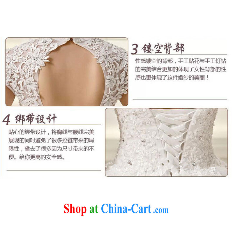 Marriage wedding dresses 2015 new, modern white lace-up collar package shoulder back with retro graphics thin white XS, joshon&Joe, shopping on the Internet