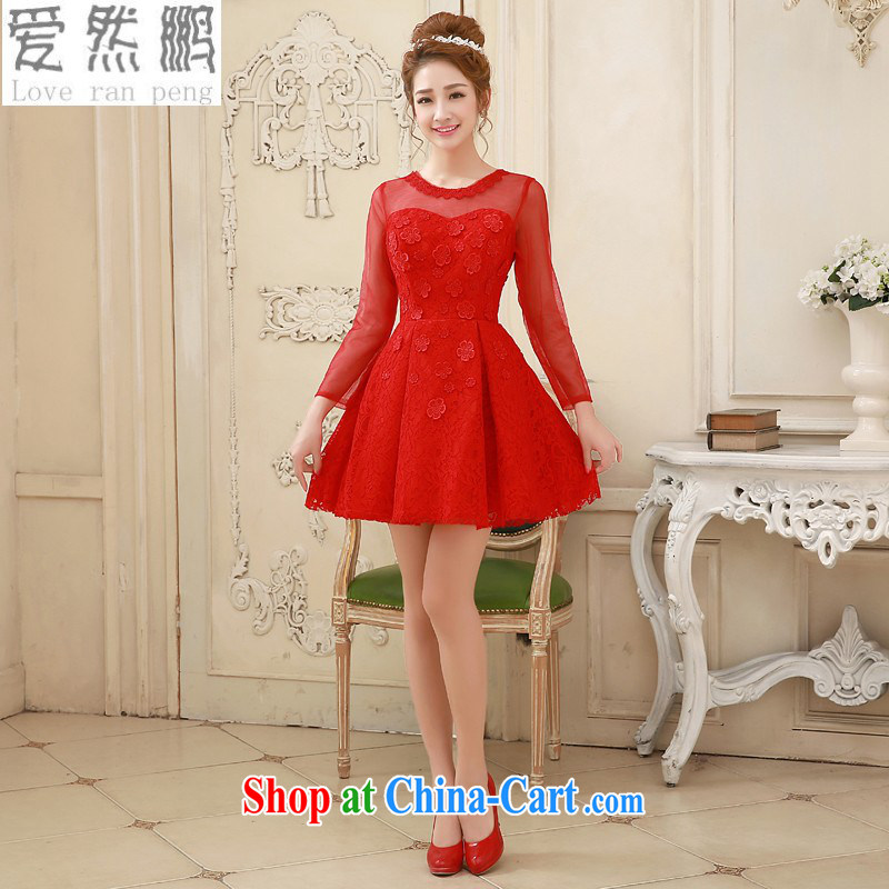 Love, Norman wedding dresses 2015 new bridal wedding dresses red dress uniform toast short evening dress winter long-sleeved gown long-sleeved red customer size will not be returned.