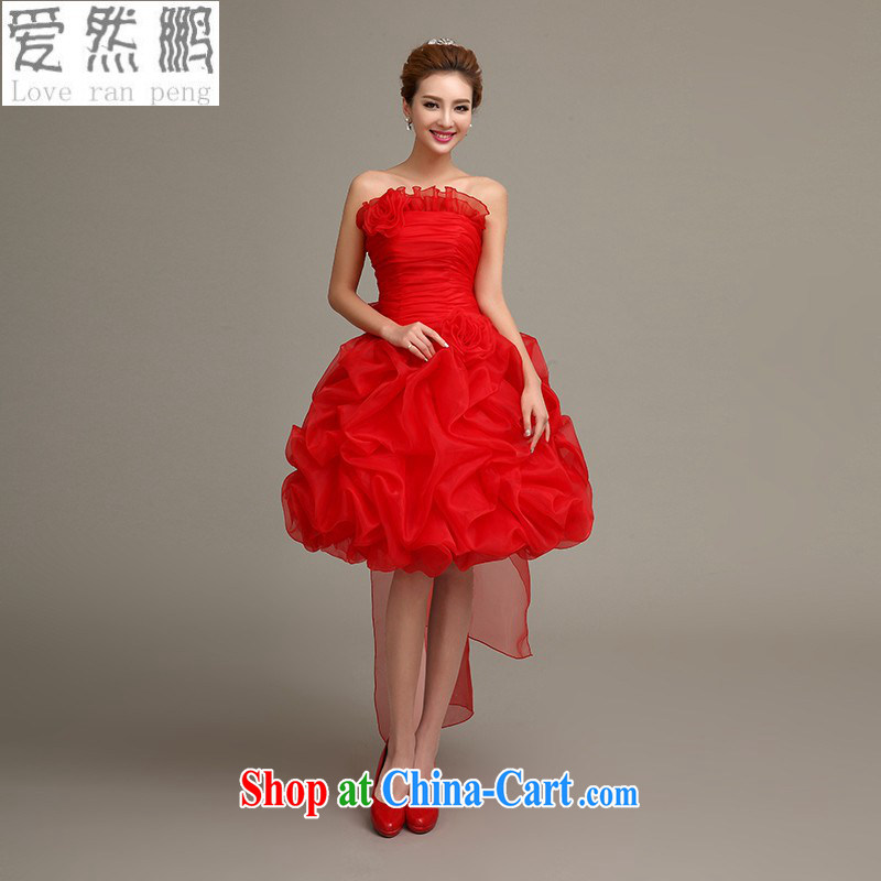 Love, Norman wedding dresses 2015 new bridal wedding dresses red dress uniform toast short evening dress winter long-sleeved gown red customers to size the do not return