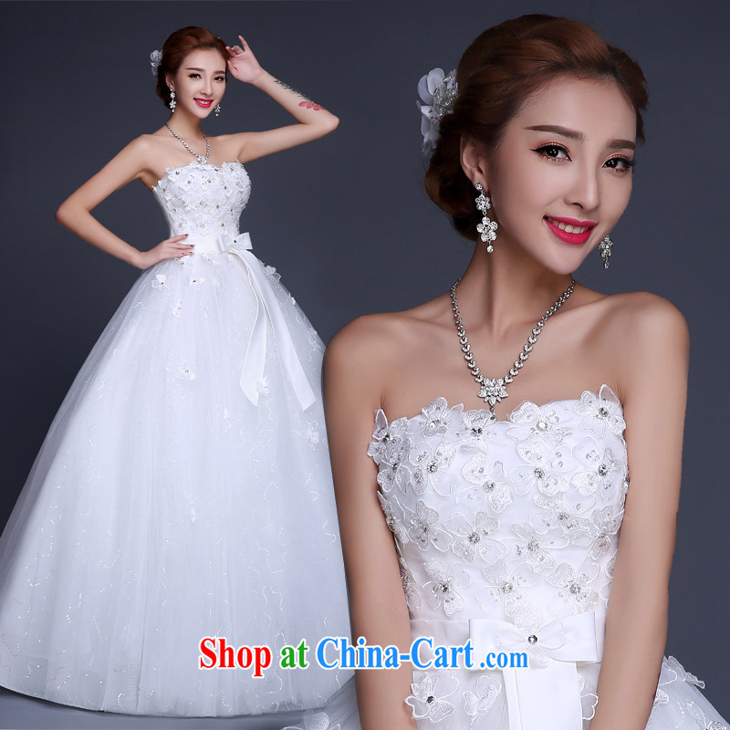 100 the ball wedding dresses new 2015 winter Korean fashion erase chest lace straps bridal pregnant wedding with wedding white XXL