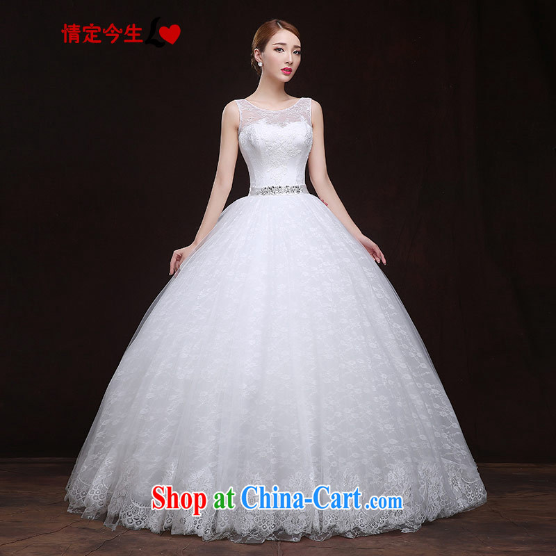 The Code love life wedding dresses 2015 New Field shoulder lace wood drill with graphics thin Korean wedding dress girls white XXL