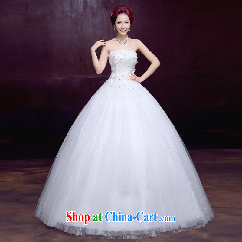 The married Yi wedding dresses new spring 2015 wiped his chest, bridal wedding beauty graphics thin sweet tie A flowers with wedding dresses, 3 piece white XXL