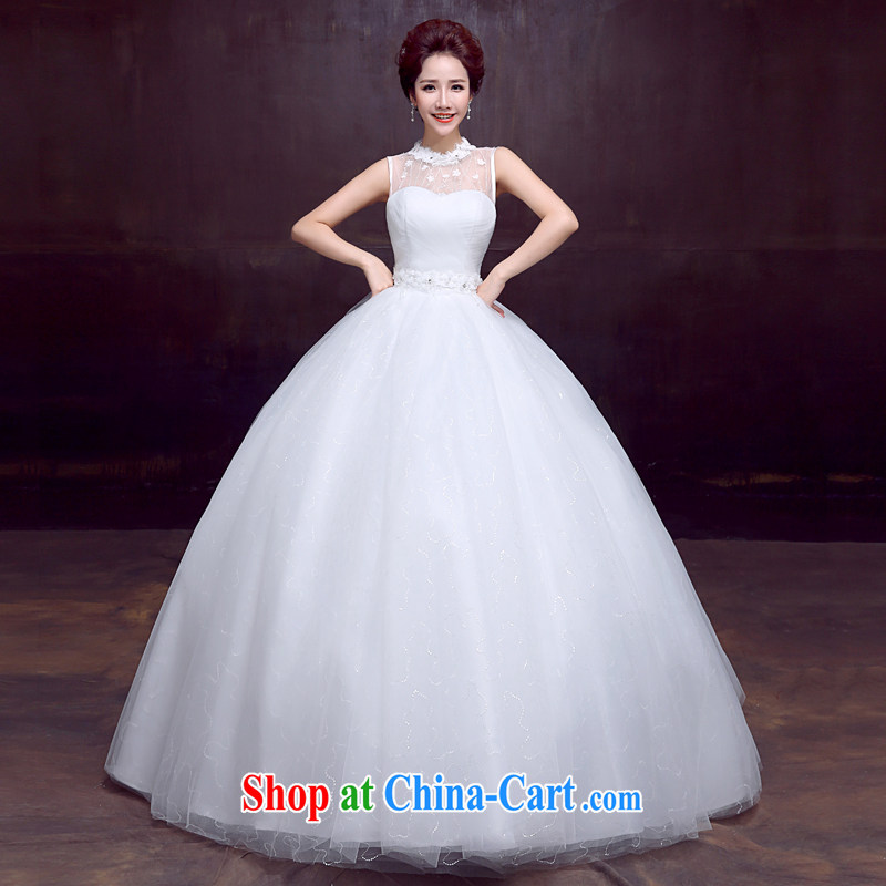 The married Yi wedding dresses new 2015 Spring package shoulder with bridal wedding beauty graphics thin sweet strap wedding, 3-Piece white XXL