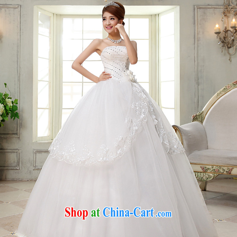 A good service is 2015 new Bridal Fashion wiped chest wedding dress Princess sweet simplicity with wedding white 2XL
