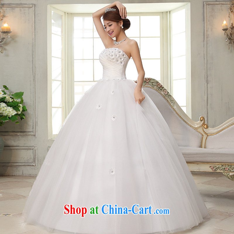 A good service is 2015 new bride wedding dress wiped chest sweet Princess style with wedding dresses white 2XL