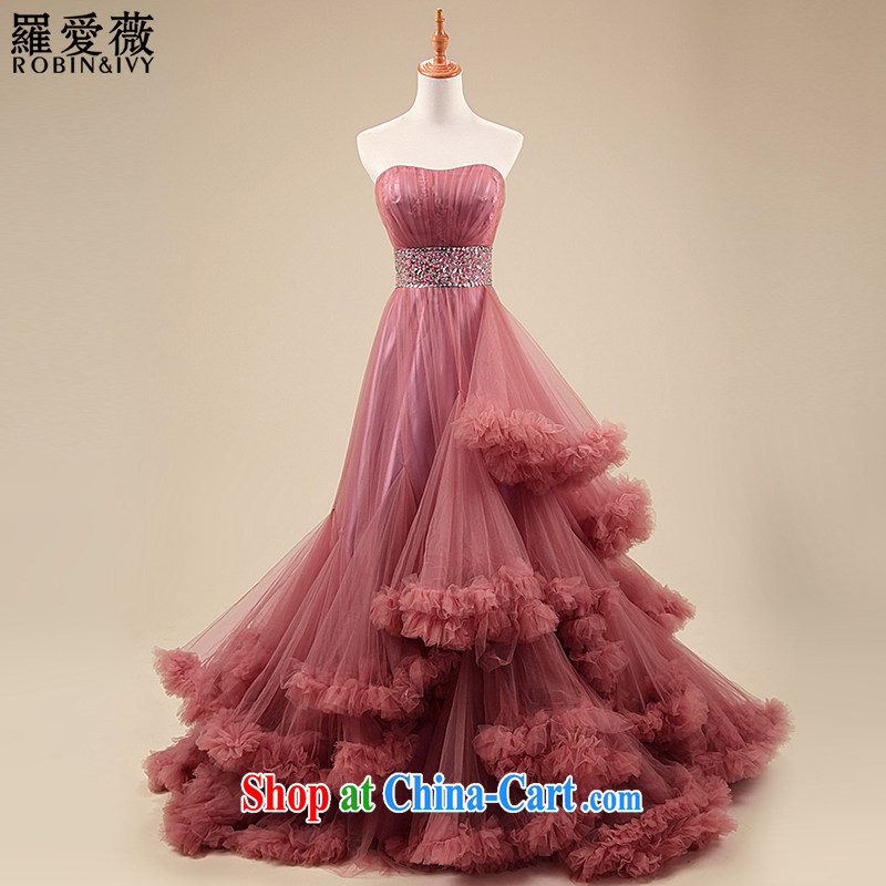 Love, Ms Audrey EU Yuet-mee, RobinIvy) wedding dresses new 2015 meat pink towel chest cloud dress with wedding Advanced Customization H 34,531 pink tailored