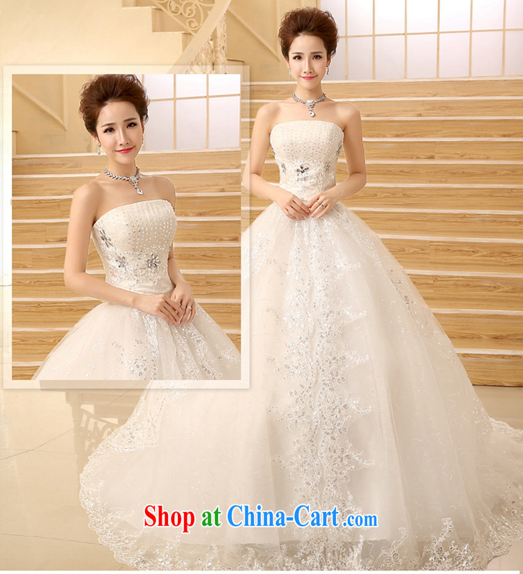 Time his bare chest style wedding dresses new tail wedding tied with lace inserts drill wipe the chest tail wedding, Japan, and South Korea custom wedding white M pictures, price, brand platters! Elections are good character, the national distribution, so why buy now enjoy more preferential! Health