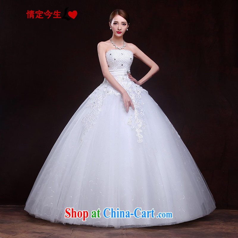 The Code love life wedding Mary Magdalene, chest 2015 New staple Pearl inserts drill Korean-style strap sexy graphics thin spring and summer-waist-lady lace white XXL