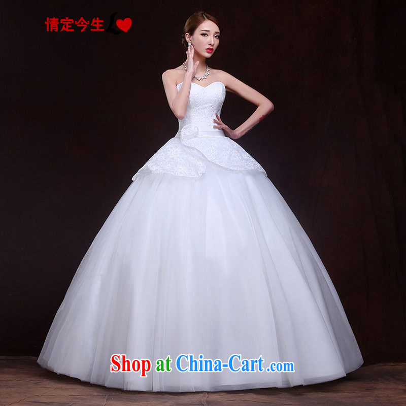 The Code love life wedding Mary Magdalene, chest 2015 New Products lace Korean lady Princess shaggy dress strap graphics thin. The waist-dress white XXL