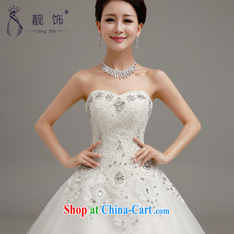 Beautiful ornaments 2015 new wedding Luxury Water drilling erase chest wedding bridal marriage Princess shaggy white dress with a paragraph to contact customer service, beautiful ornaments JinGSHi), online shopping