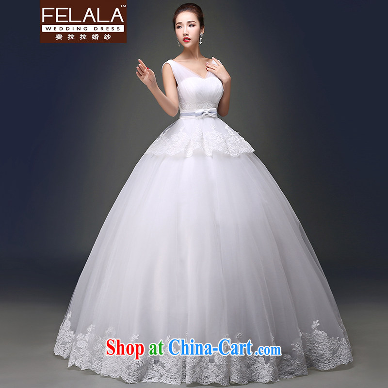 Ferrara 2015 spring and summer new dual-shoulder V collar lace wiped his chest and back exposed shaggy wedding L (2 feet 1)