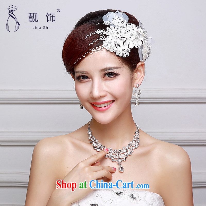 Beautiful ornaments 2015 new bridal head-dress wedding dresses accessories accessories wedding head-dress photo building supplies white flowers 011, beautiful ornaments JinGSHi), shopping on the Internet