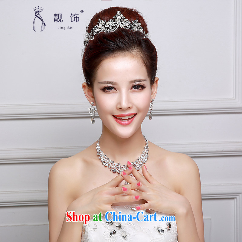 Beautiful ornaments 2015 new bridal headdress high alloy oversized bridal Princess Crown necklace earrings 3-Piece wedding accessories accessories Crowne Plaza 022