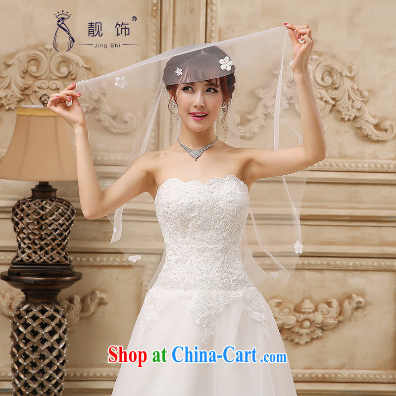 Beautiful ornaments 2015 new brides and yarn white floral decorations bride and legal wedding accessories 1.5m White 082