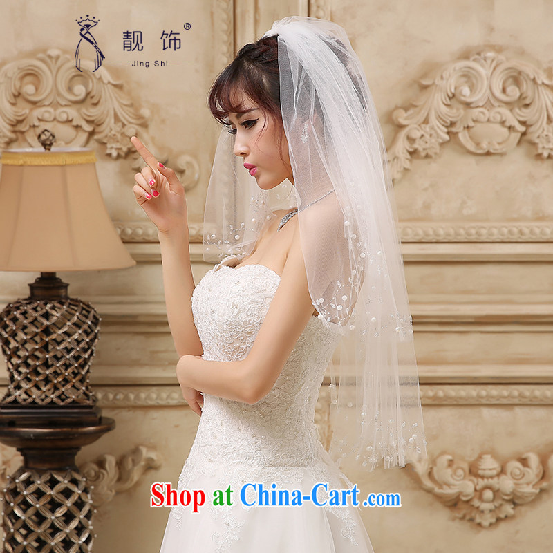Beautiful ornaments 2015 new multi-storey white water drilling bridal head yarn white nails Pearl 094