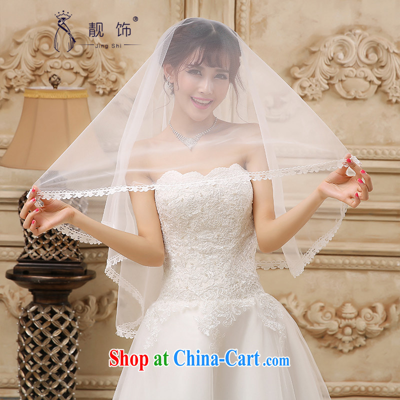 Beautiful ornaments 2015 new luxury lace bridal head yarn 1.5 M wedding accessories 1.5m White 088
