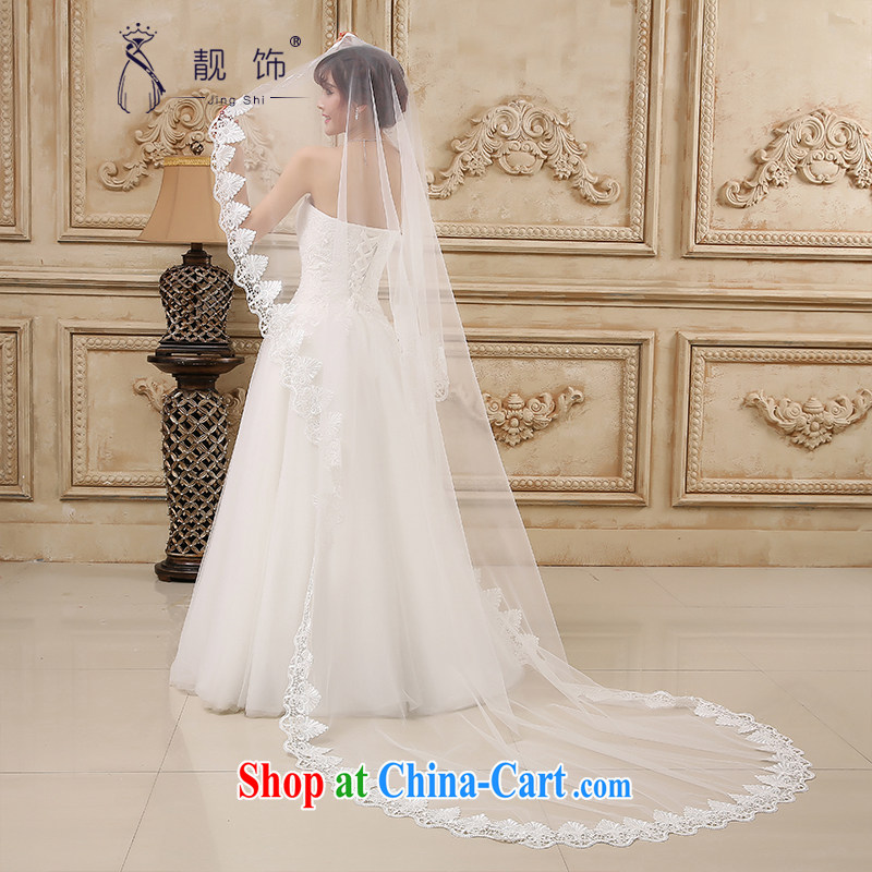 Beautiful ornaments 2015 new marriages water-soluble lace flowers extra large extra long head yarn long white, 080