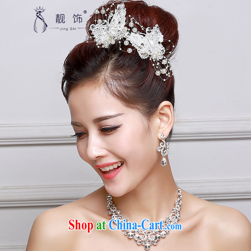 Beautiful ornaments 2015 new bridal red head-dress Korean bridal headdress red clip bow-tie, jewelry White single price