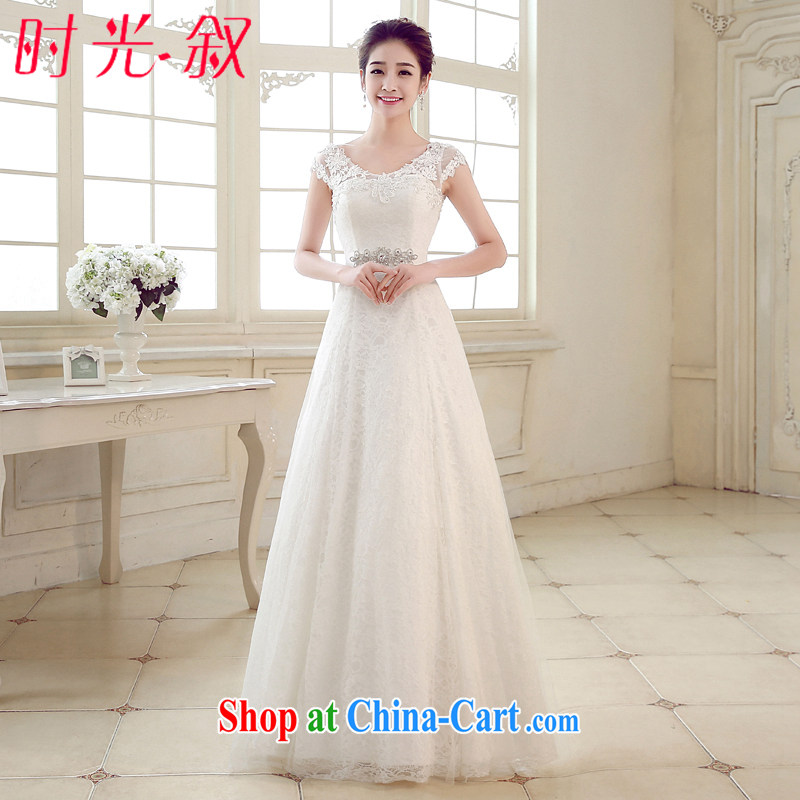 Time Syria, Japan, and South Korea minimalist shoulders with wedding lace retro Wedding Video thin bridal wedding A swing wedding dresses 2015 summer XXL