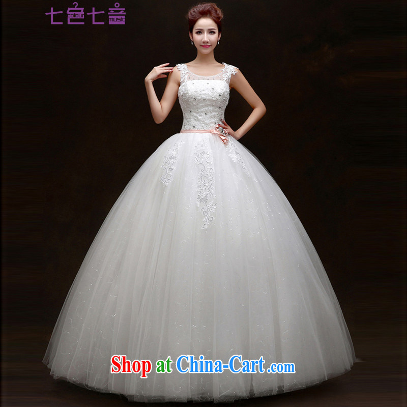 7-Color 7 tone Korean version spring 2015 new paragraph to align graphics thin lace retro double-shoulder bag large code drill bridal wedding dresses H 066 white tailored