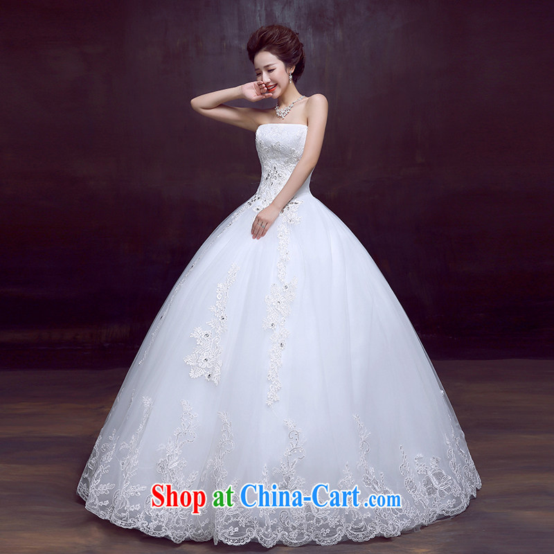 The married Yi wedding dresses new 2015 Korean sexy wiped his chest, wedding sweet Princess bridal wedding white XXL