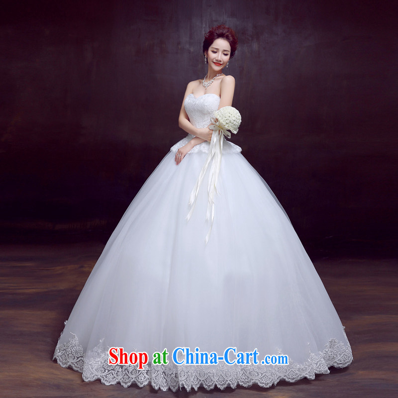The married Yi wedding dresses new 2015 sexy lace wiped his chest, wedding Princess bride video thin wedding white XXL