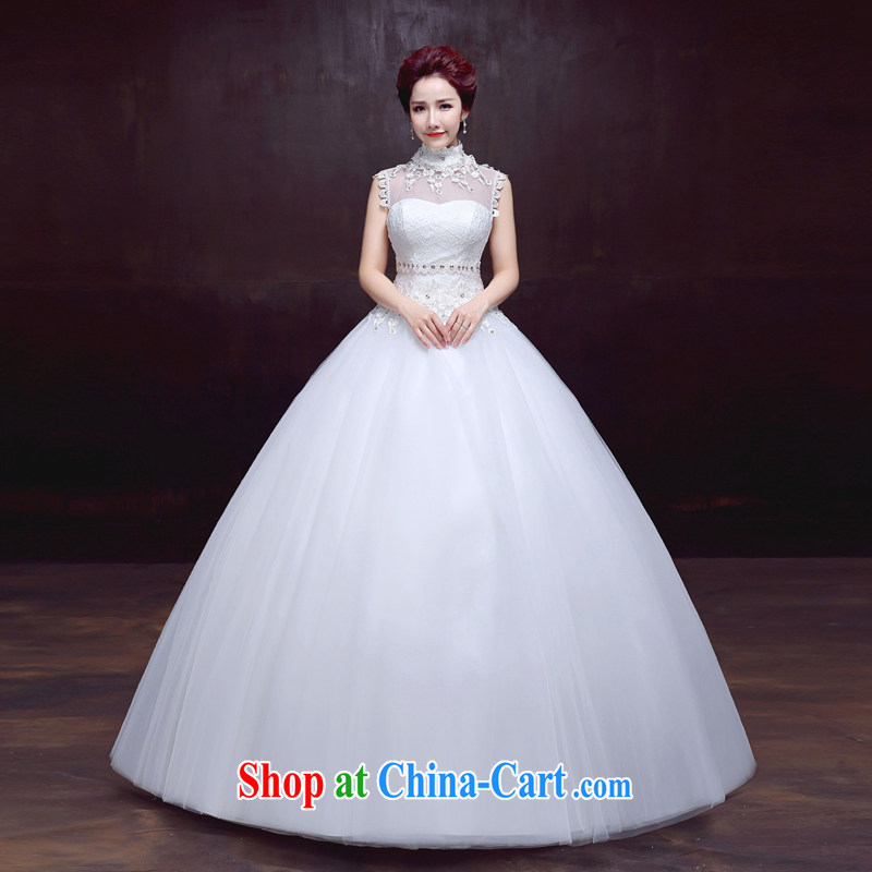The married Yi wedding dresses new 2015 is also with sweet wedding beauty sexy back exposed bridal wedding white XXL