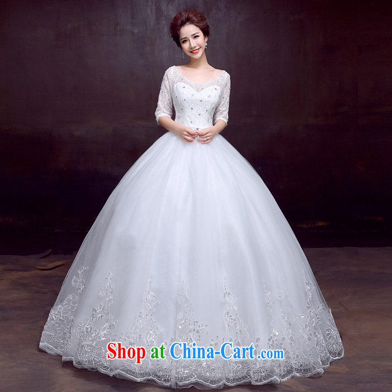 The married Yi wedding dresses new in 2015 cuff lace with wedding Princess bridal sweet tie wedding white XXL