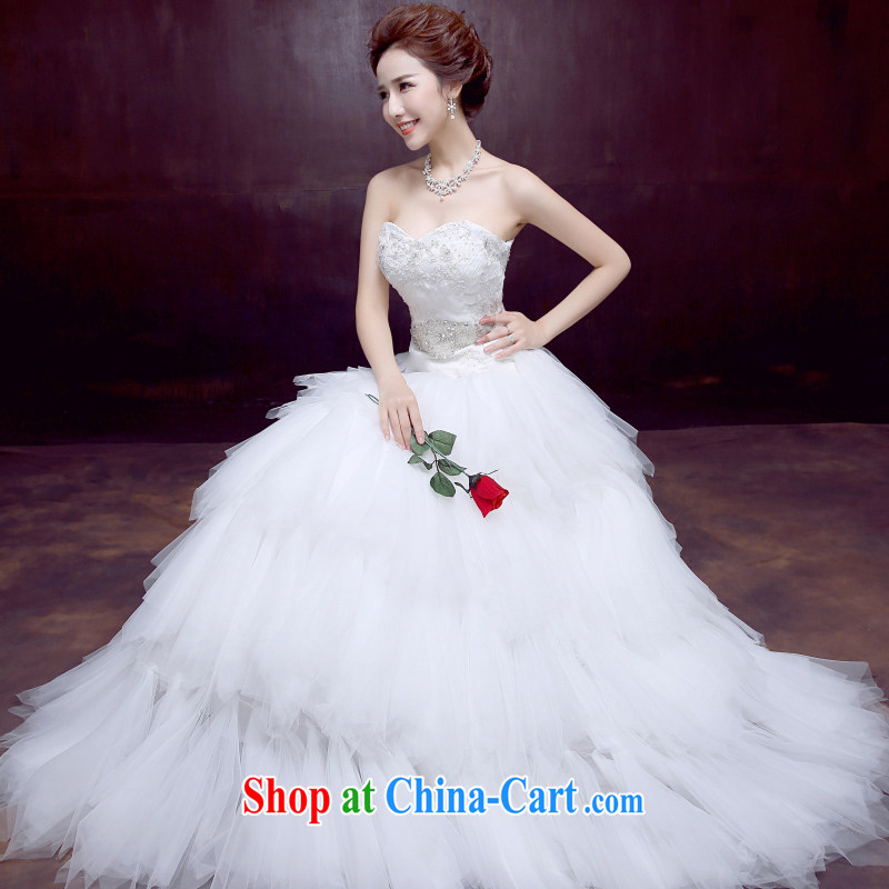 Dumping the married Yi wedding dresses new 2015 sweet Princess Mary Magdalene chest wedding with beauty bridal sexy wedding white XXL
