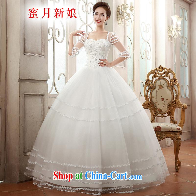 Honeymoon bridal 2015 spring wedding dresses romantic double-shoulder wedding dresses Princess shaggy dress wedding white XL