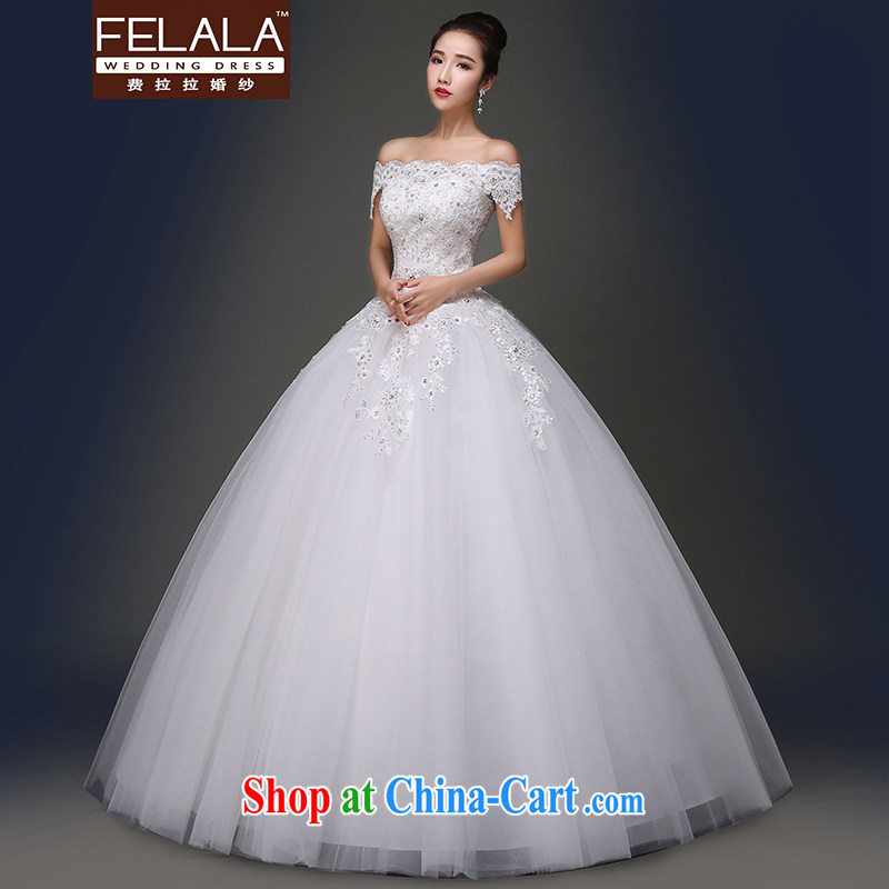 Ferrara 2015 spring and summer new elegant field shoulder lace, with shaggy dress wedding XL _2 feet 2_