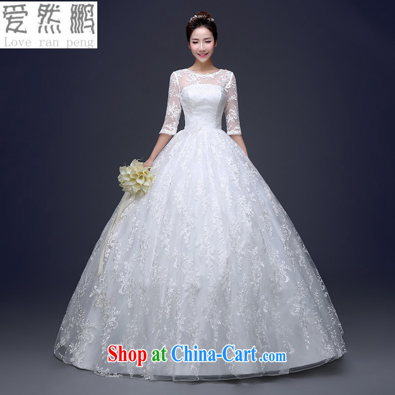 Love, Norman wedding dresses 2015 new Korean-style bride's shoulders with wedding a Field shoulder long-sleeved top, cultivating married female white customers to size the Do not be returned.