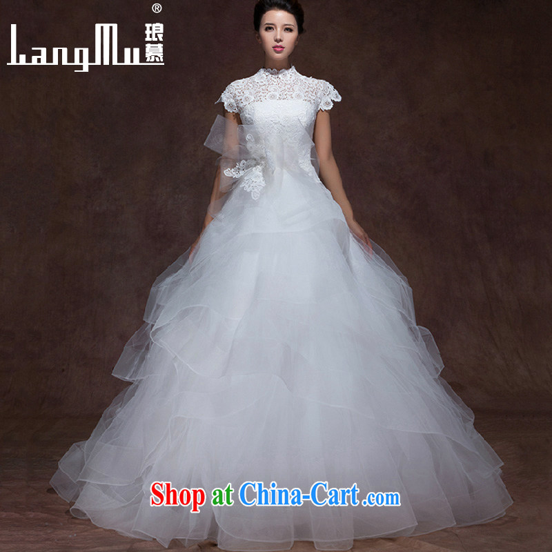 The lang 2015 new wedding dresses Lace Embroidery, Wang Wei, for a two-shoulder bag vera tail wedding dresses wang size custom
