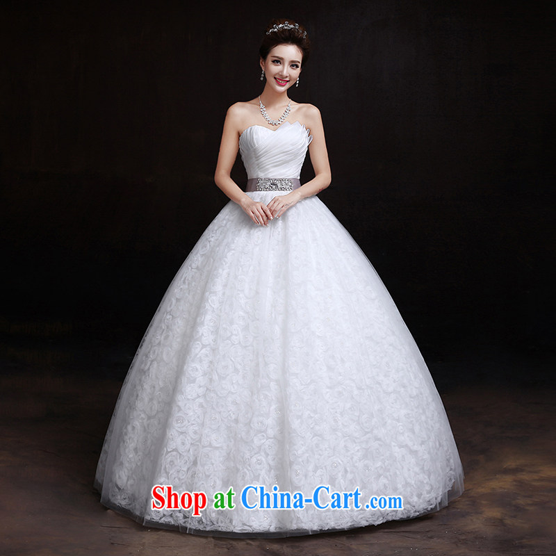 The married Yi wedding dresses new 2015 spring and summer Korean wiped his chest, high-waist graphics thin with pregnant women wedding white L