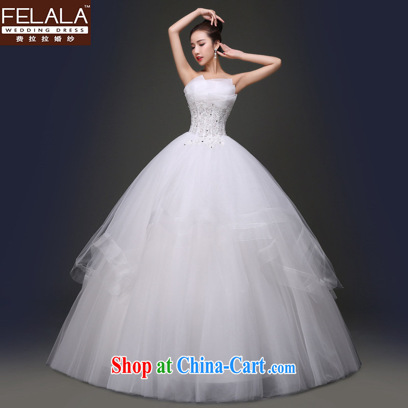 Ferrara 2015 new wedding dresses shaggy skirts manually staple pearl-waist with marriages served toast XL (2 feet 2)