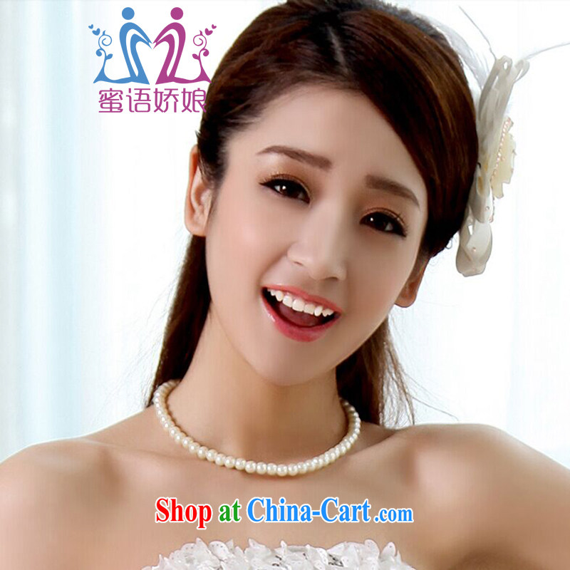 Honey, bride bridesmaid dress small dress necklace emulation pearl necklaces white bridal jewelry white