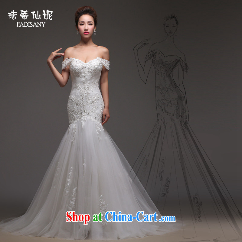 Art 100 Su Ge crowsfoot wedding dresses 2015 New Field shoulder chest bare shoulders 3 through marriages package and small tail lace beauty stylish Korean Chun white custom + $30