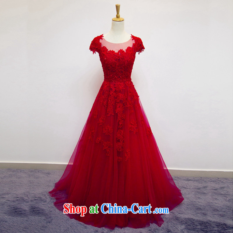 Art 100 Su Ge wedding dresses new 2015 Korean video thin retro A swing lace package shoulder bridal red wedding toast service beauty and stylish spring red custom + _30