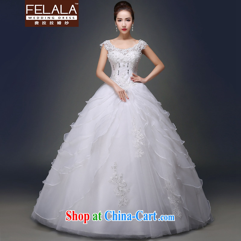 Ferrara 2015 new spring and summer elegant field shoulder light drill with skirt cake with wedding XL _2 feet 2_