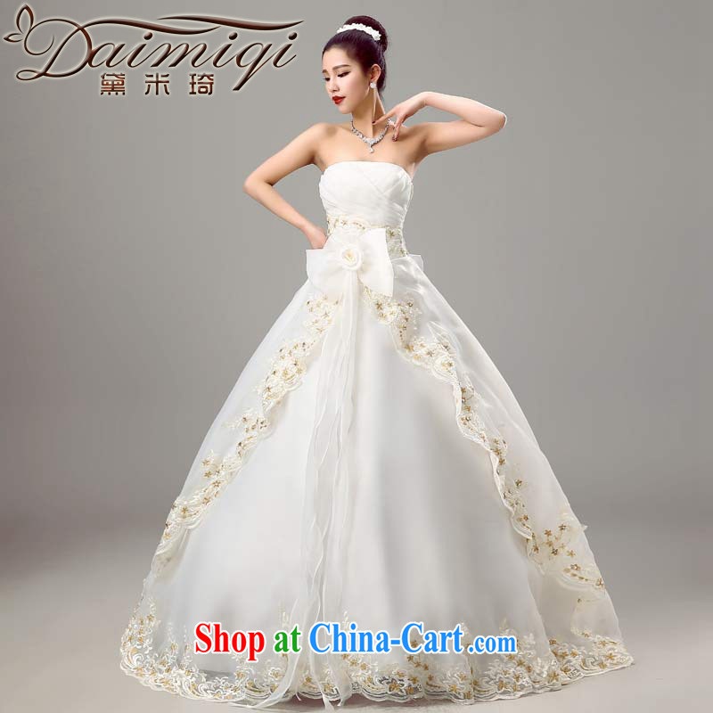 Diane M Ki wedding dresses 2015 new erase chest wedding spring beauty graphics thin wedding Korean simple bridal wedding winter with white XXL