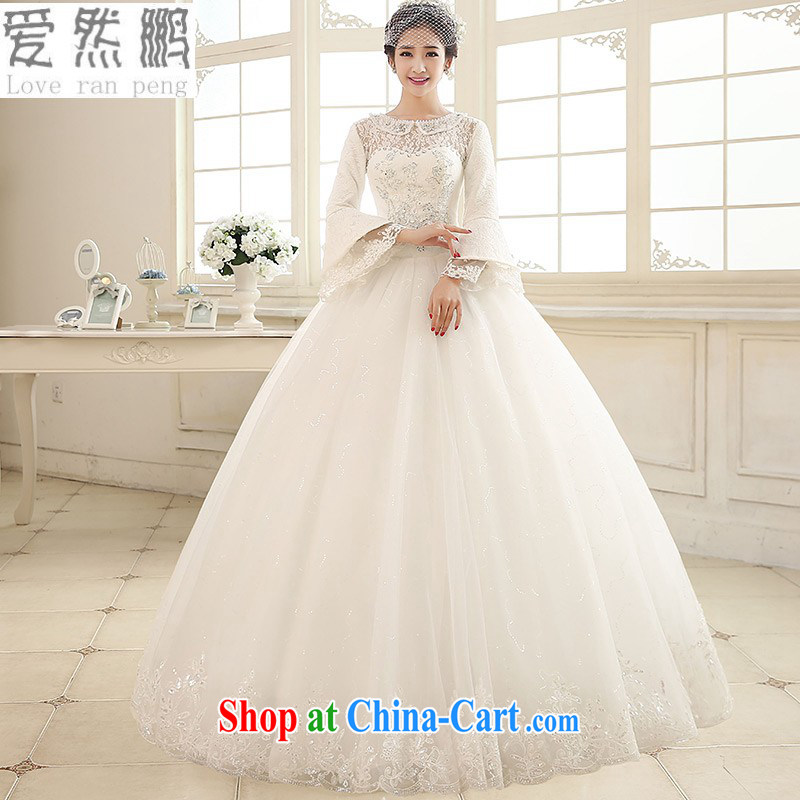 Spring 2015 new wedding dresses retro lace-up long-sleeved to bind with a stylish 2182 customers to size the Do not be returned.