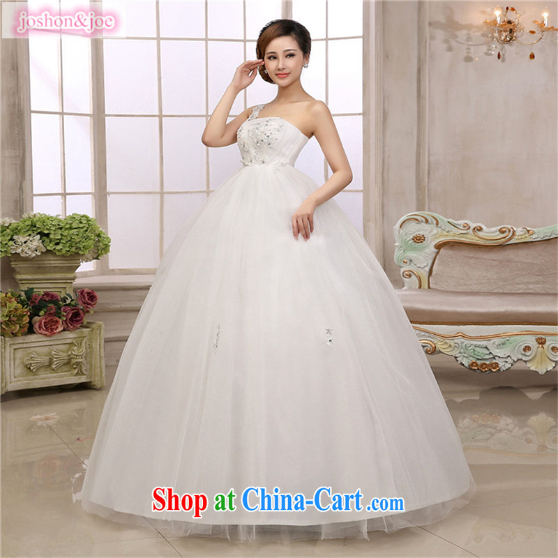 Korean high waist straps wedding dresses the shoulder with pregnant women thick MM bride King code white XXL