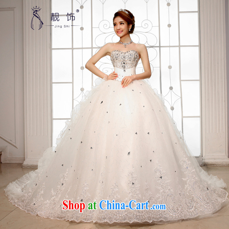 Beautiful ornaments new 2015 wedding dresses Deluxe wipe chest Korean tail wedding exclusive drill tail wedding large white tail. Contact Customer Service
